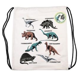 Gymtas rugzakje canvas Rex London Prehistoric Dinosaurus
