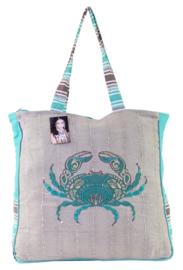 TAZ TRADE XL strandtas / shopper Crab
