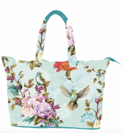 TAZ TRADE XXL strandtas birds & flowers