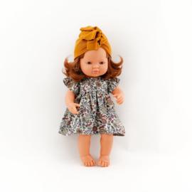 Miniland kledingsetje flowers & bunny jurkje + haarbandje