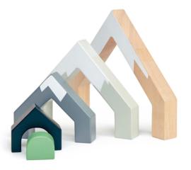 Tender leaf toys - houten stapelblokken boogbergen