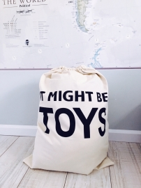 "opbergzak canvas ""it might be toys"""