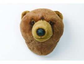 Wild & Soft  dierenkop bruine beer