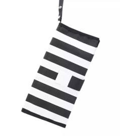 Luieretui monochrome zwart wit streep