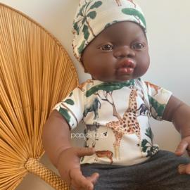 Miniland Babypop Afrikaans - jongen  (40 cm)