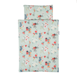 Olimi bedding set - flowers mint