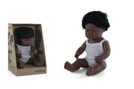 Miniland Babypop Afrikaans - jongen (38 cm)