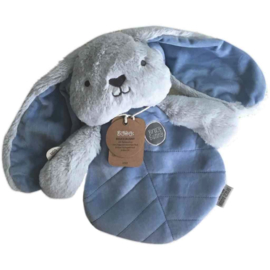 O.B. Designs knuffeldoek konijn Bruce blauw 31x20cm