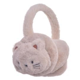 Juleeze oorwarmers cat beige - 13 cm