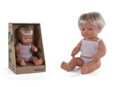 Miniland Babypop Europees - jongen (38 cm)