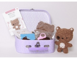 The little experience Stitch it woolly bear kit 6+