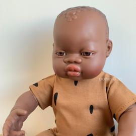 Miniland Babypop Afrikaans - meisje (40 cm)