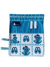 labeldoekje knuffeldoekje delfts blauw aqua blauw