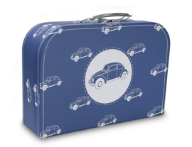 Koffertje Cara Caro blauw auto's