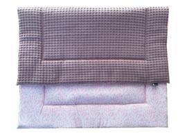 Popjes & Zo XL speelkleed oud roze wafel en lichtroze kettingprint 135 x 100 cm