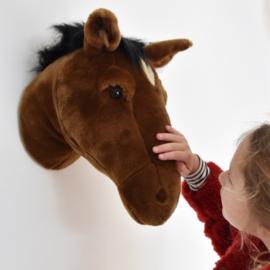 Wild & Soft   dierenkop paard Scarlett bruin