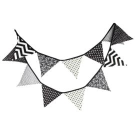 Vlaggenslinger zwart wit zonder naam
