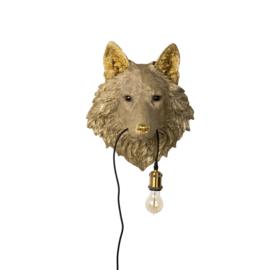 Gouden Wolf wandlamp