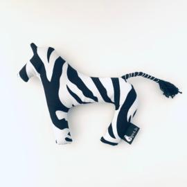 Knuffeltje zebra zwart wit - Popjes & Zo