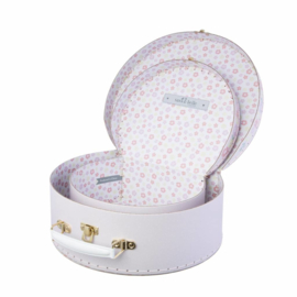 Sass & Belle koffersetje Freya Swan - zwaan blush roze