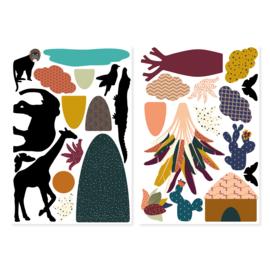 Ma Cabane à Rêves magneetset dieren AFRIKA