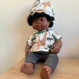 Miniland Babypop Afrikaans - meisje (38 cm)