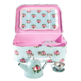 Sass & Belle picknick set roses blue kinderserviesje