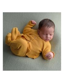 Gebreid newborn setje okergeel maat 56/62 - Micu Micu Barcelona