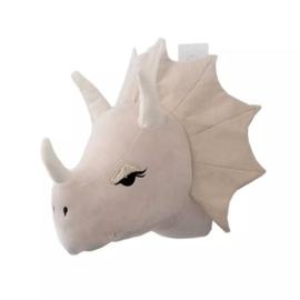 Ecru dierenkop dinosaurus (ceratops)