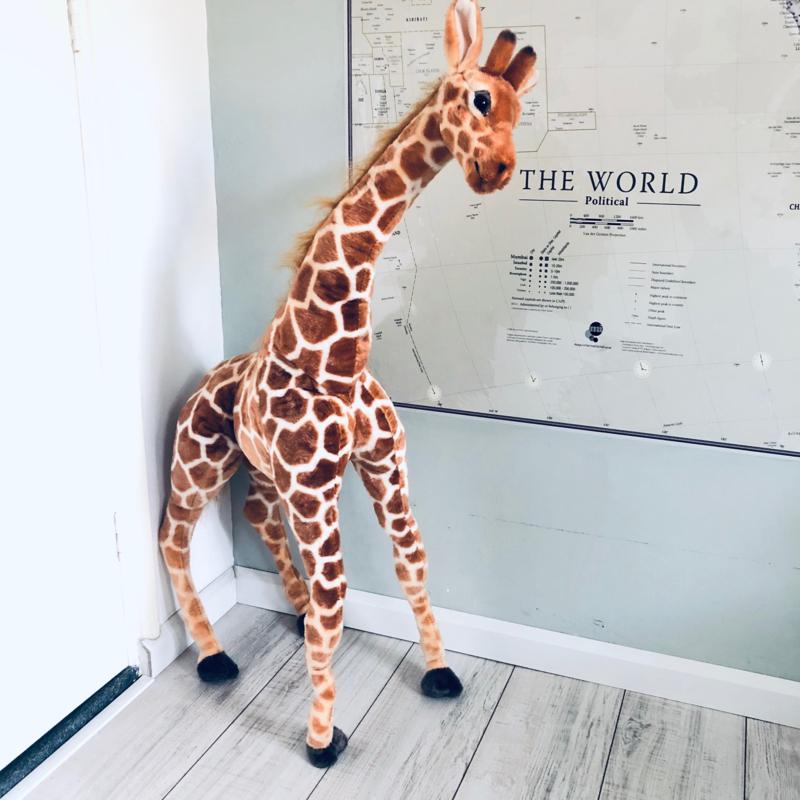 Giraf knuffel staand 120 cm hoog