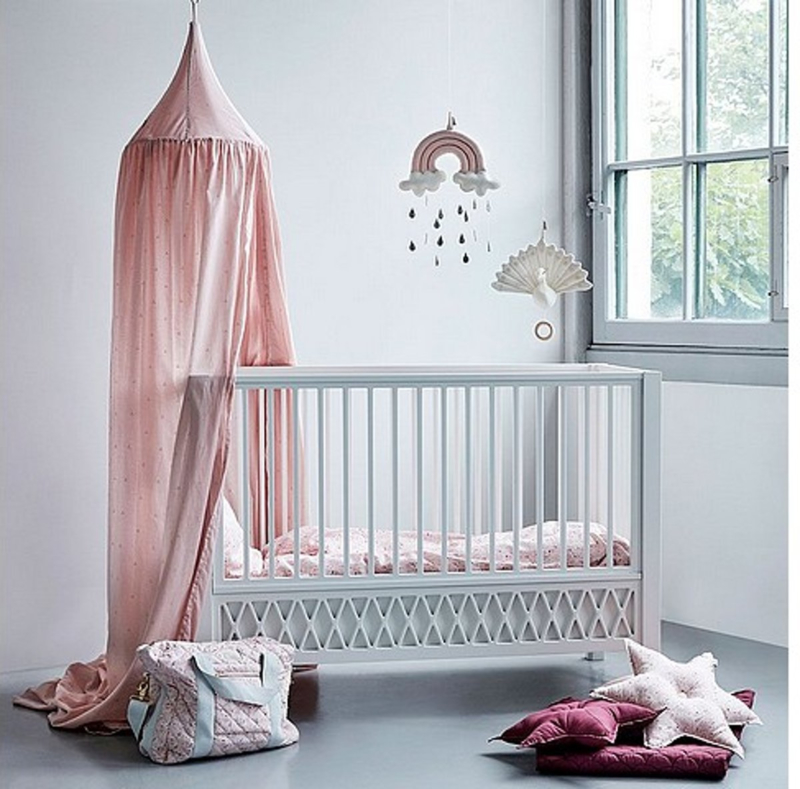 CamCam Hemeltje Kinderbed - Dot Blossom Pink