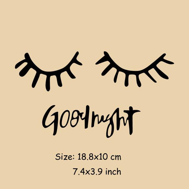 strijkapplicatie wimpers goodnight ZWART