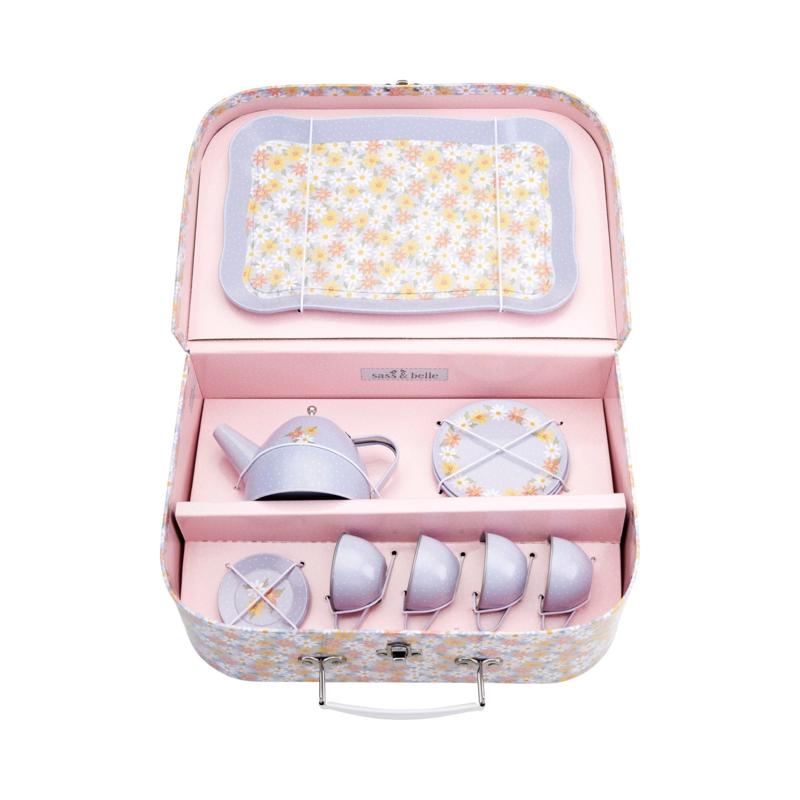 Sass & Belle picknick set daisy kinderserviesje - theeserviesje