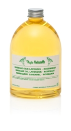 Massageolie Lavendel - Rozemarijn 500 ml
