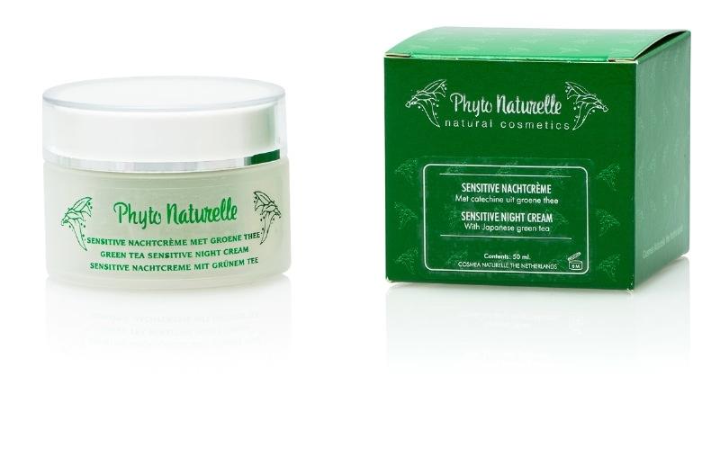 Sensitive nachtcrème groene thee 50 ml