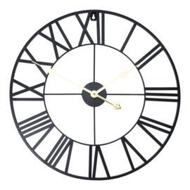 Zwart metalen klok