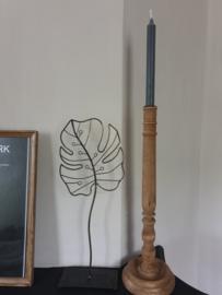 Botanisch deco blad metaal