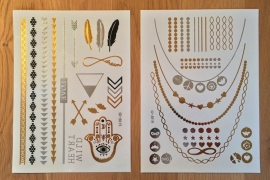 Metallic Tattoos 1 Goud & Zilver
