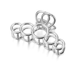 Metalen Haarklem Cirkels Zilver