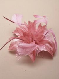 Bloem Fascinator Roze