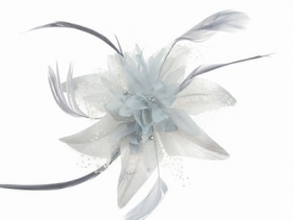 Silver Grey Flower Hair Comb