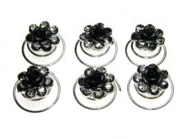 Zwarte Roos Curlies 6 st