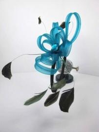 Turquoise Haarband Fascinator