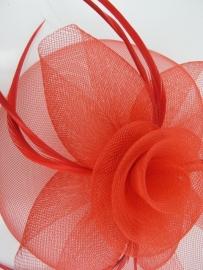 Swirl Fascinator Rood