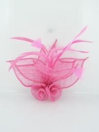 Roze Sinamay Fascinator