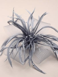 Decoratieve Fascinator Grijs