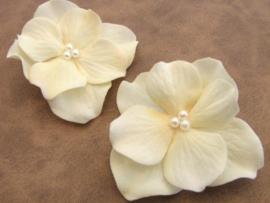 Licht Ivoor Hortensia Haar Bloem 1  st