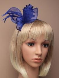 Sinamay Haarband Fel Blauw
