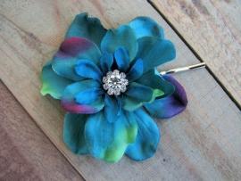 Kleine Haarbloem Peacock met Fonkelend Hartje