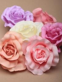 Licht Roze Roos Haarclip